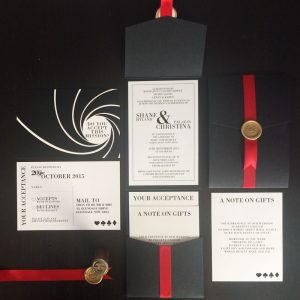 james bond wedding invitation
