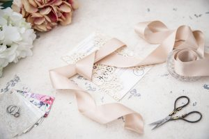 ivory laser-cut wedding invitation