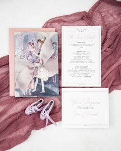 ballerina wedding invitation suite