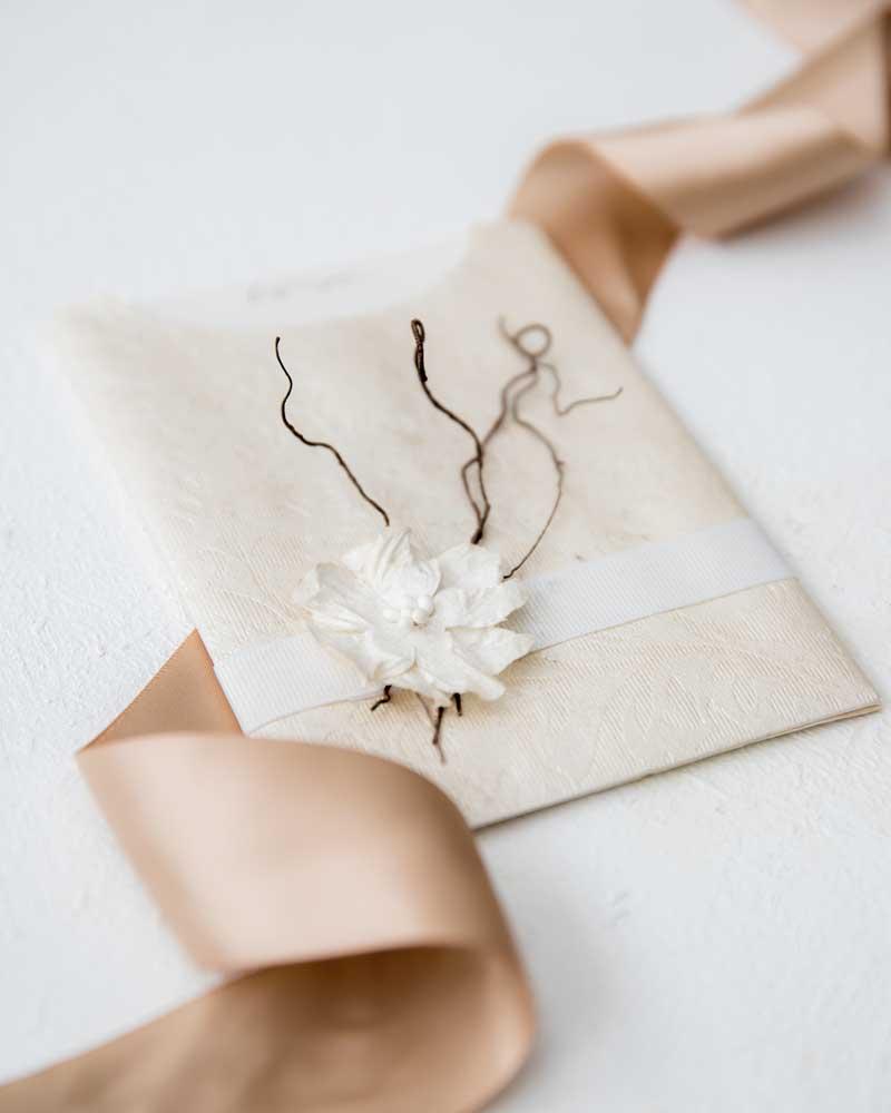 ivory gardenia dodo vine wedding invitation pocket