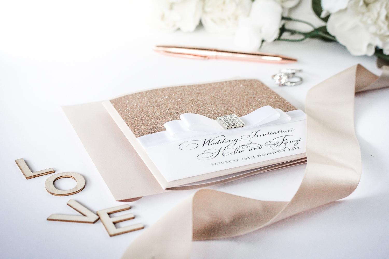 boutique wedding invitation