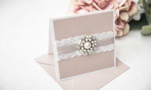 boutique lace wedding invitation