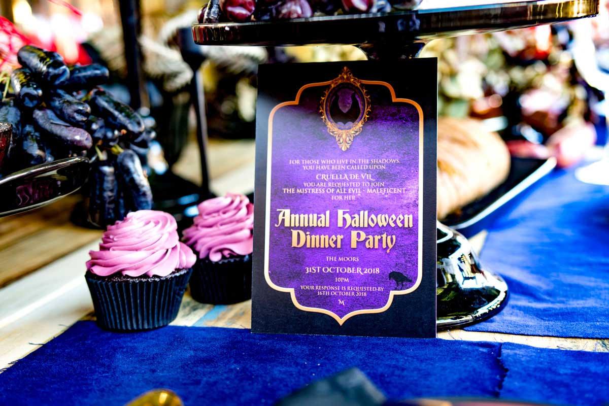 halloween malificent invitation