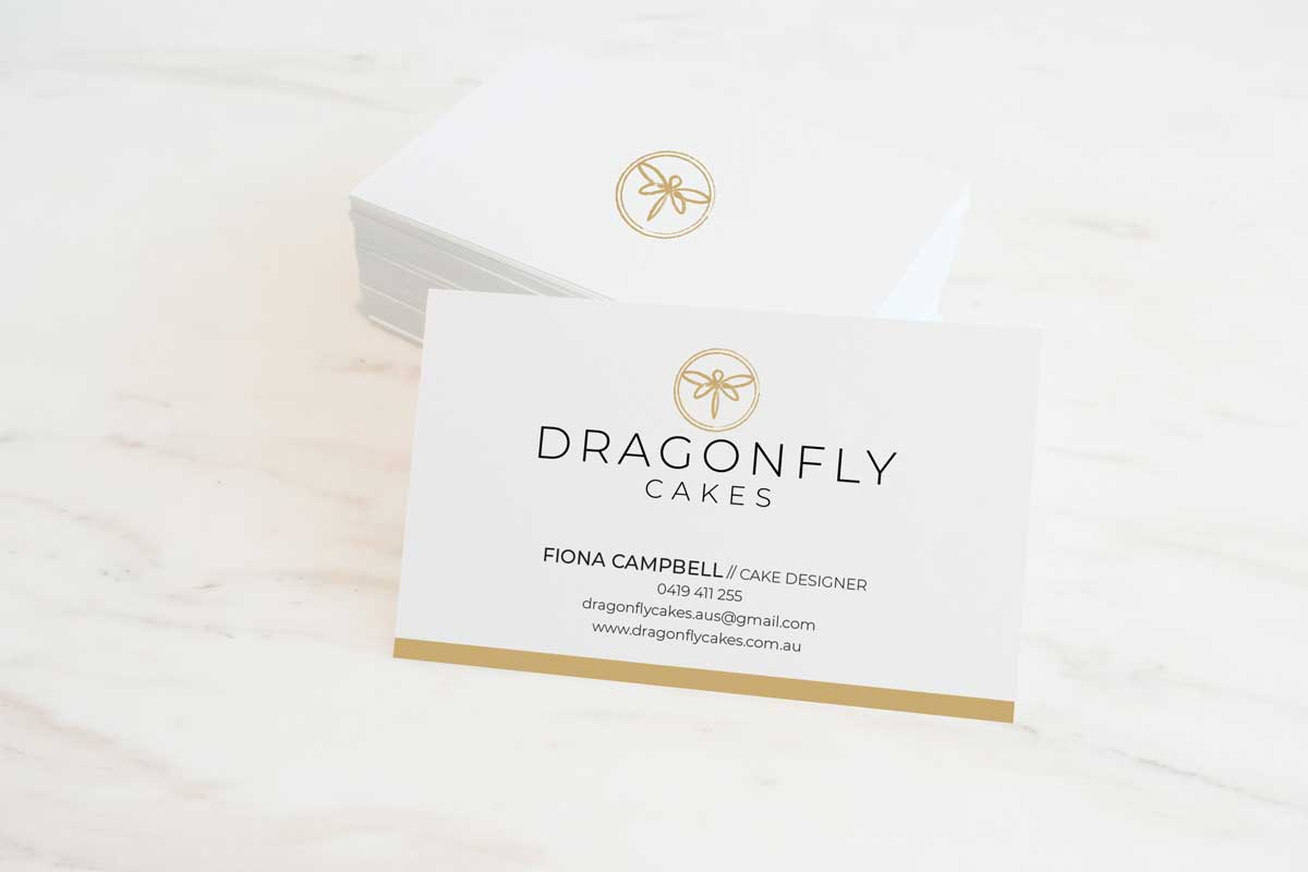 dragonfly cakes business card