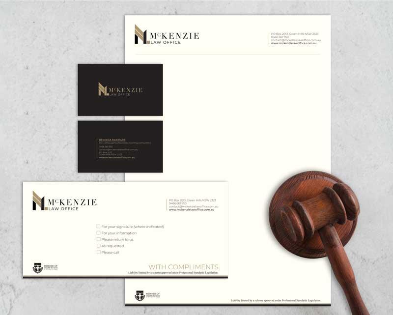 mcknezie law office stationery