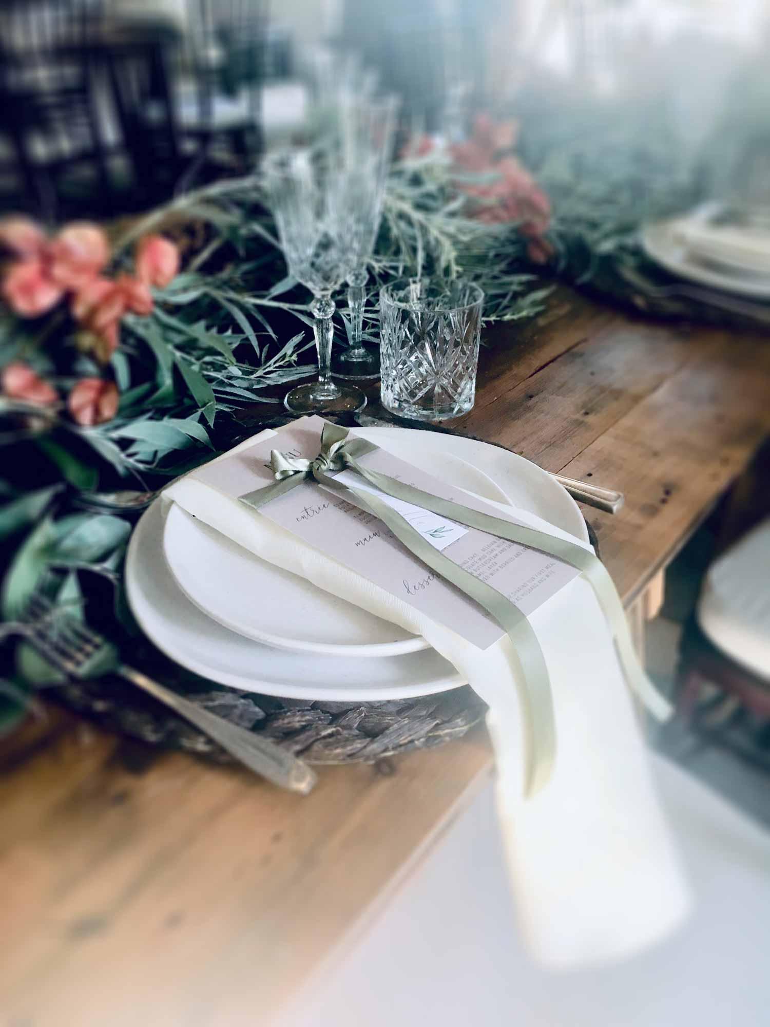 stonehurst menu olive ribbon