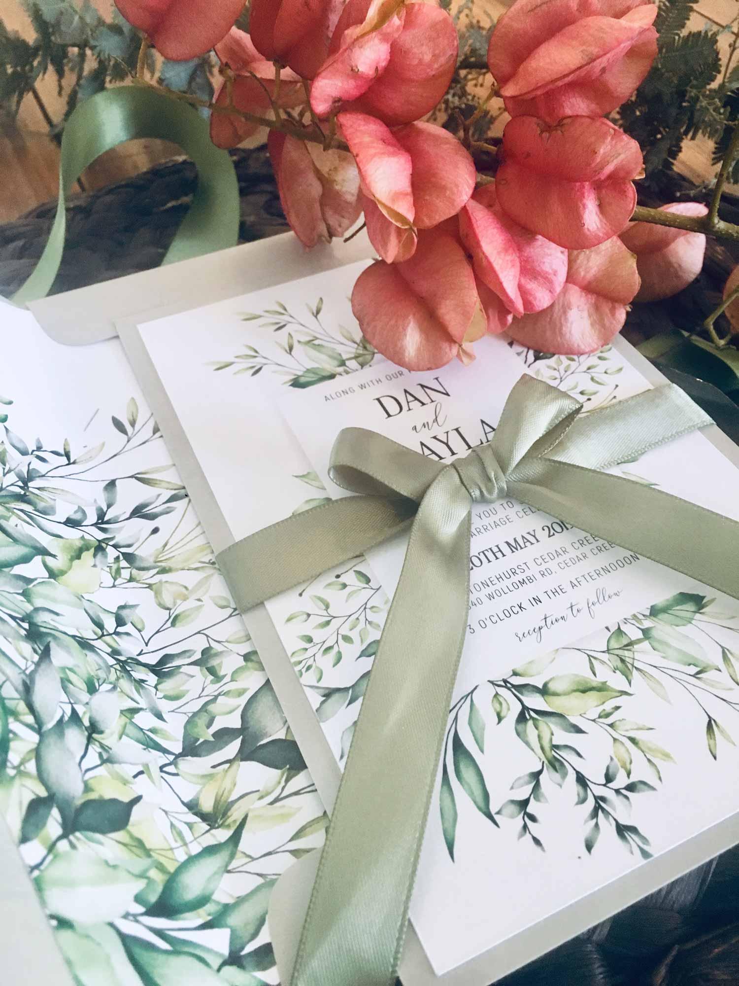 stonehurst botanic wedding invitation