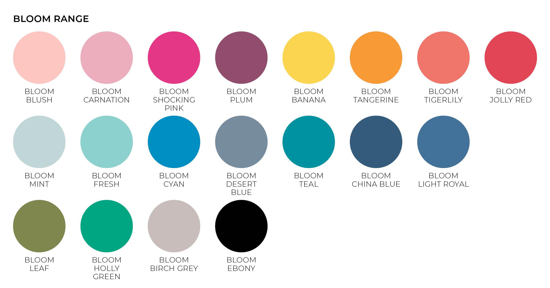 bloom paper envelope colours
