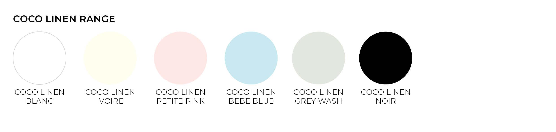 coco linen paper envelope colours