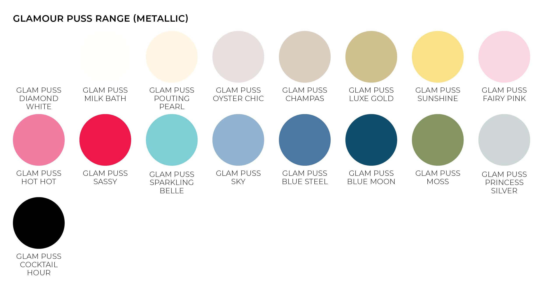 glamour puss metallic paper envelope colours