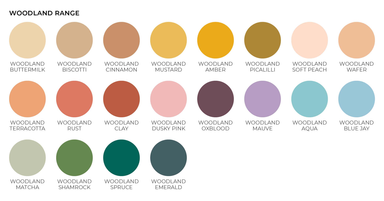 woodland paper envelope colours