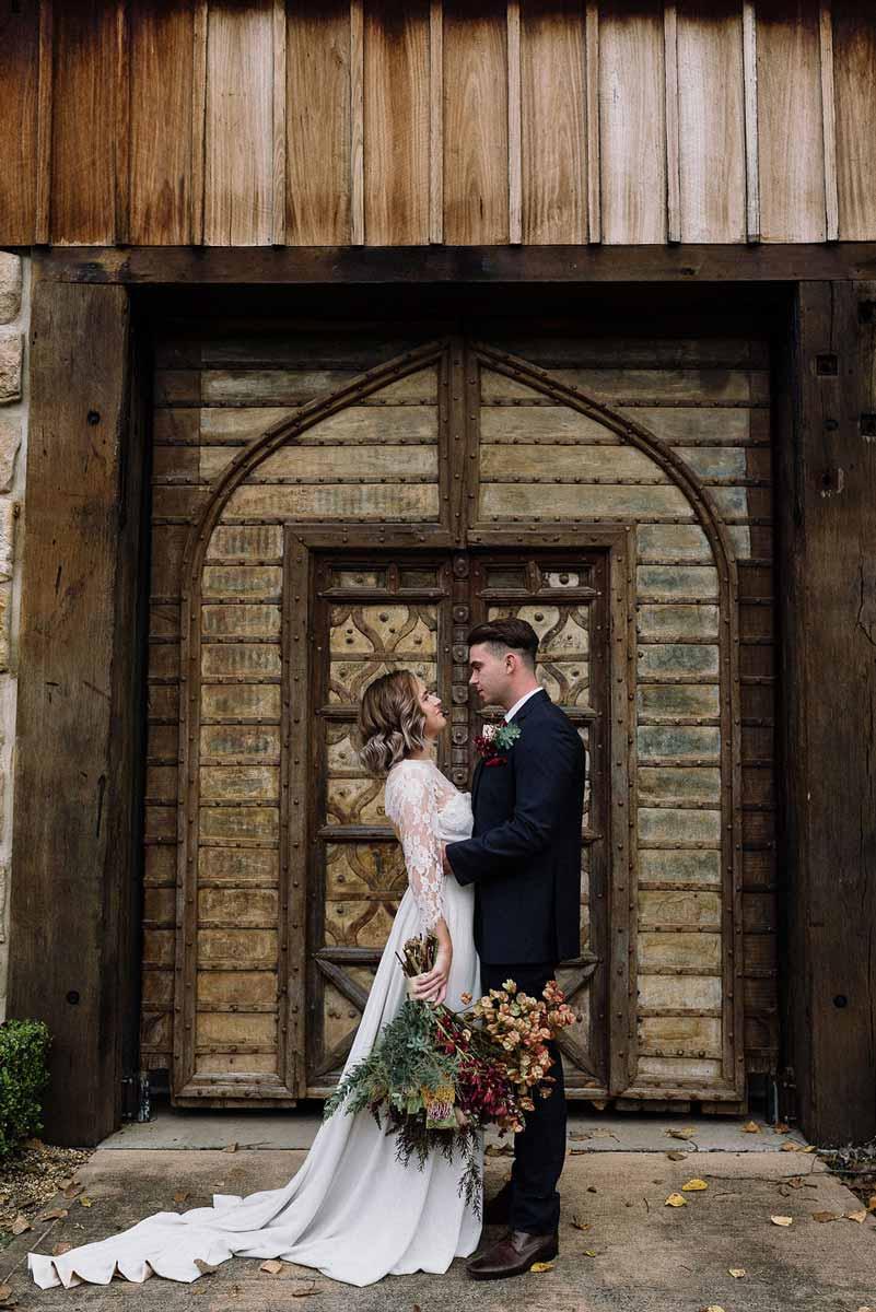 stonehurst bridal couple doors