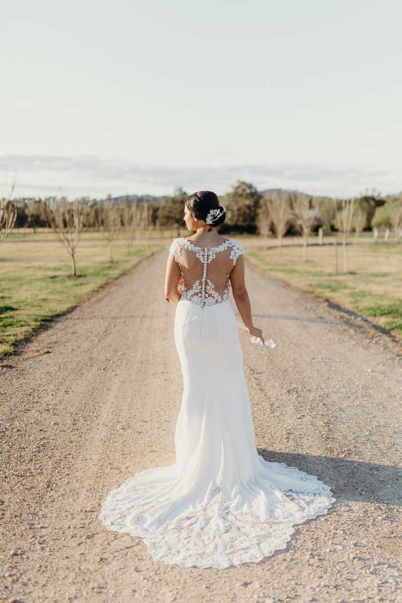 binet winery bridal wedding dress back