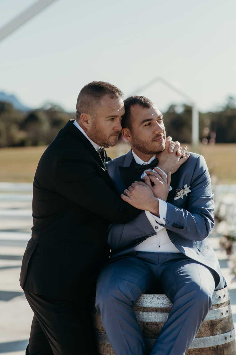 binet winery grooms in love